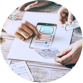 Working with a paper prototype and user testers for UX Design and app development
