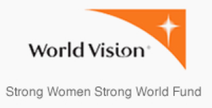 world vision logo, strong women strong world fund