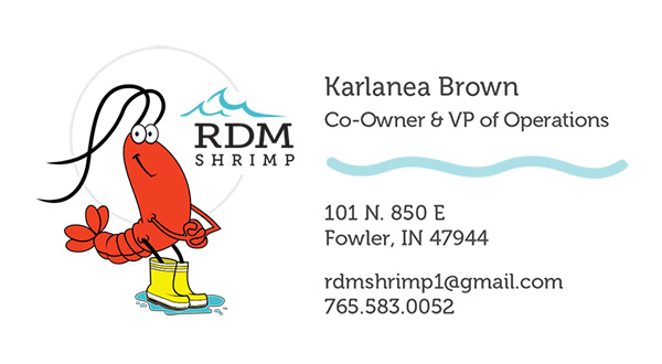 Front of RDM business card