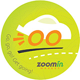 Zoomin Market sticker showing a car