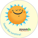 Zoomin Market sticker showing a sun