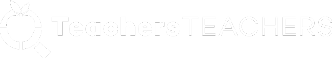 Teachers Teachers white logo