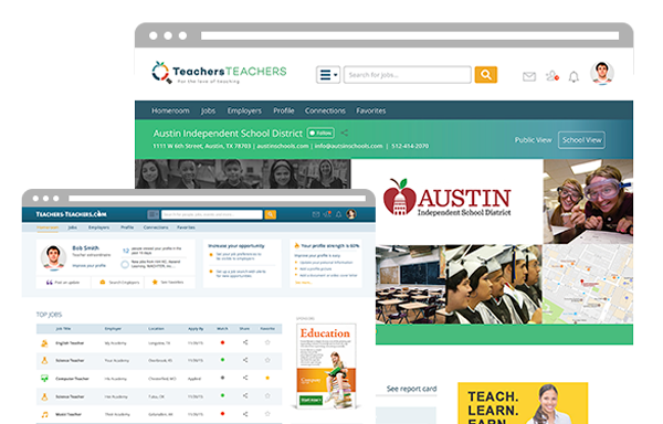 Computer showing the Teachers Teachers website and ux design by ZIV