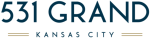 The 531 grand Kansas City logo with branding by ZIV