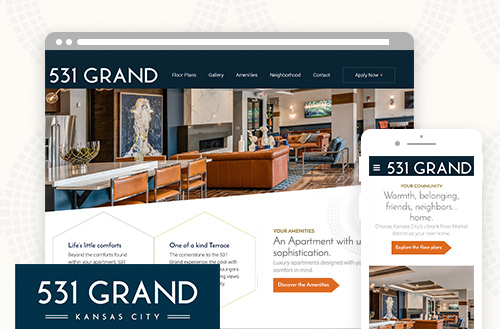 531 grand kansas city branding logo and web design by ZIV